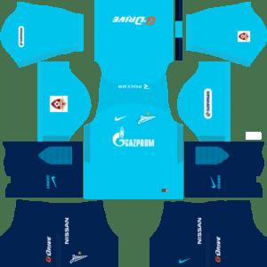 Zenit St Petersburg Home Kits DLS 2018