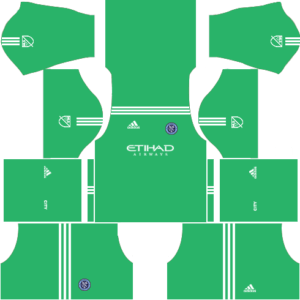 New York City FC Goalkeeper Home Kits DLS 2018