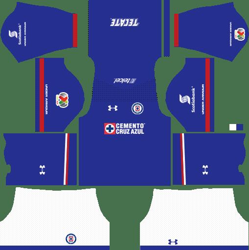 Cruz Azul Home Kits DLS 2018