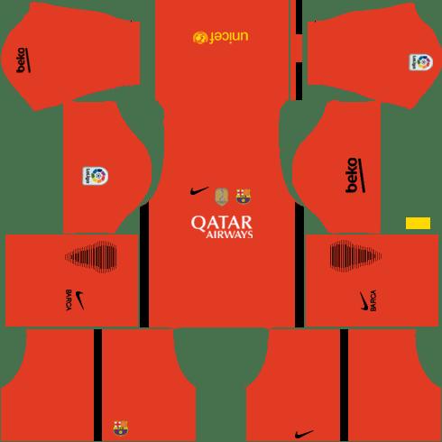 Barcelona GoalKeeper Third Kit DLS 2018