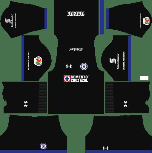 Cruz Azul Away Kits DLS 2018