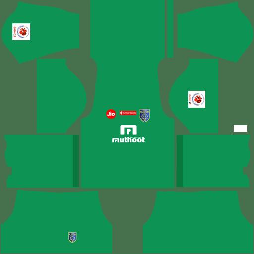 Kerala Blasters goalkeeper away kit 2018