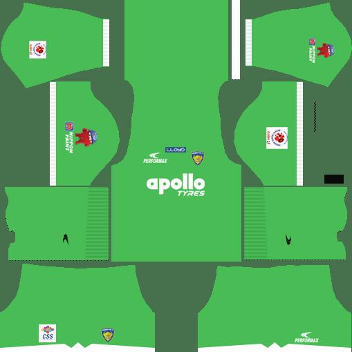 Chennaiyin FC Kits Home Goalkeeper 2018