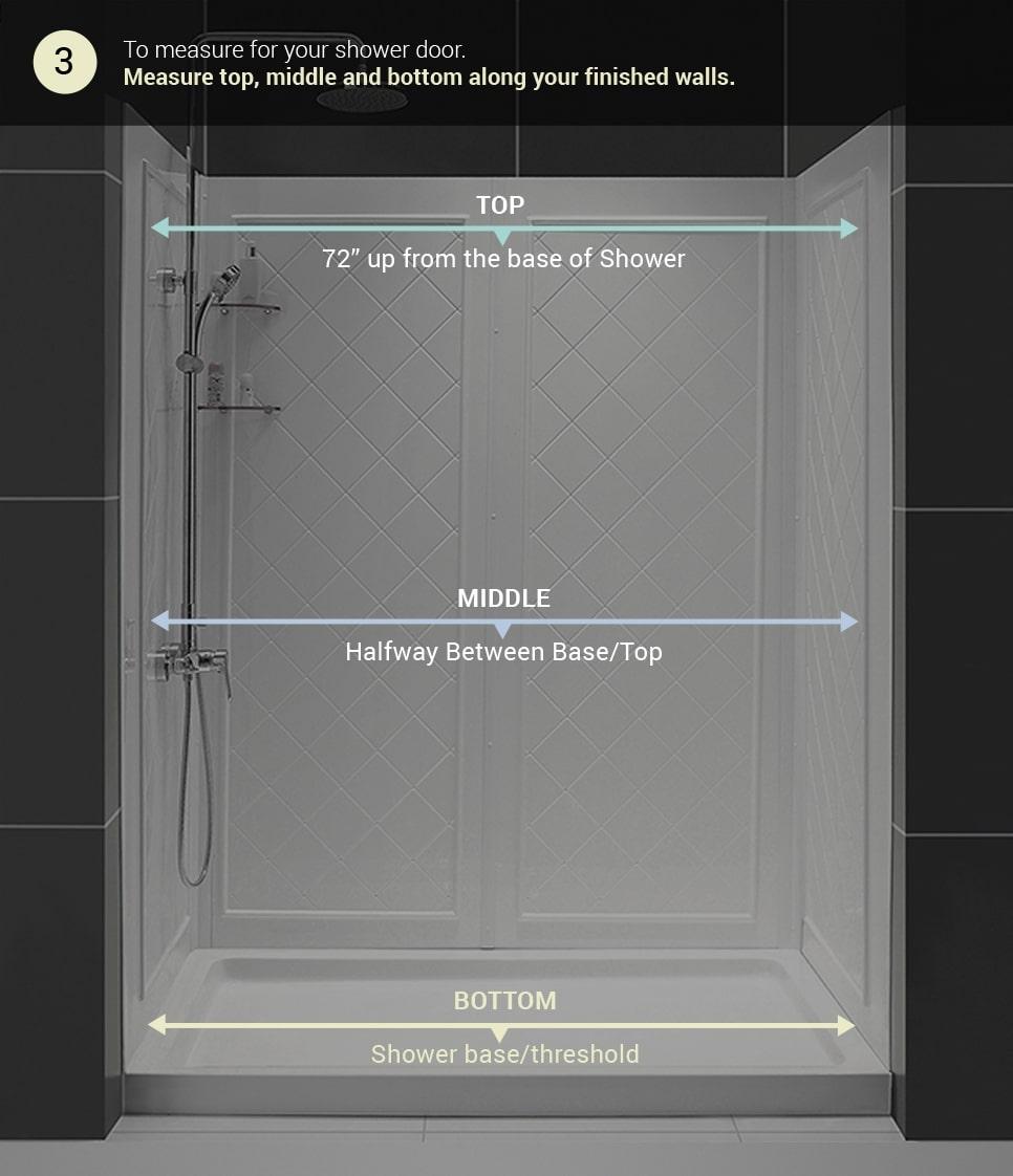 dreamline shower door measuring guides