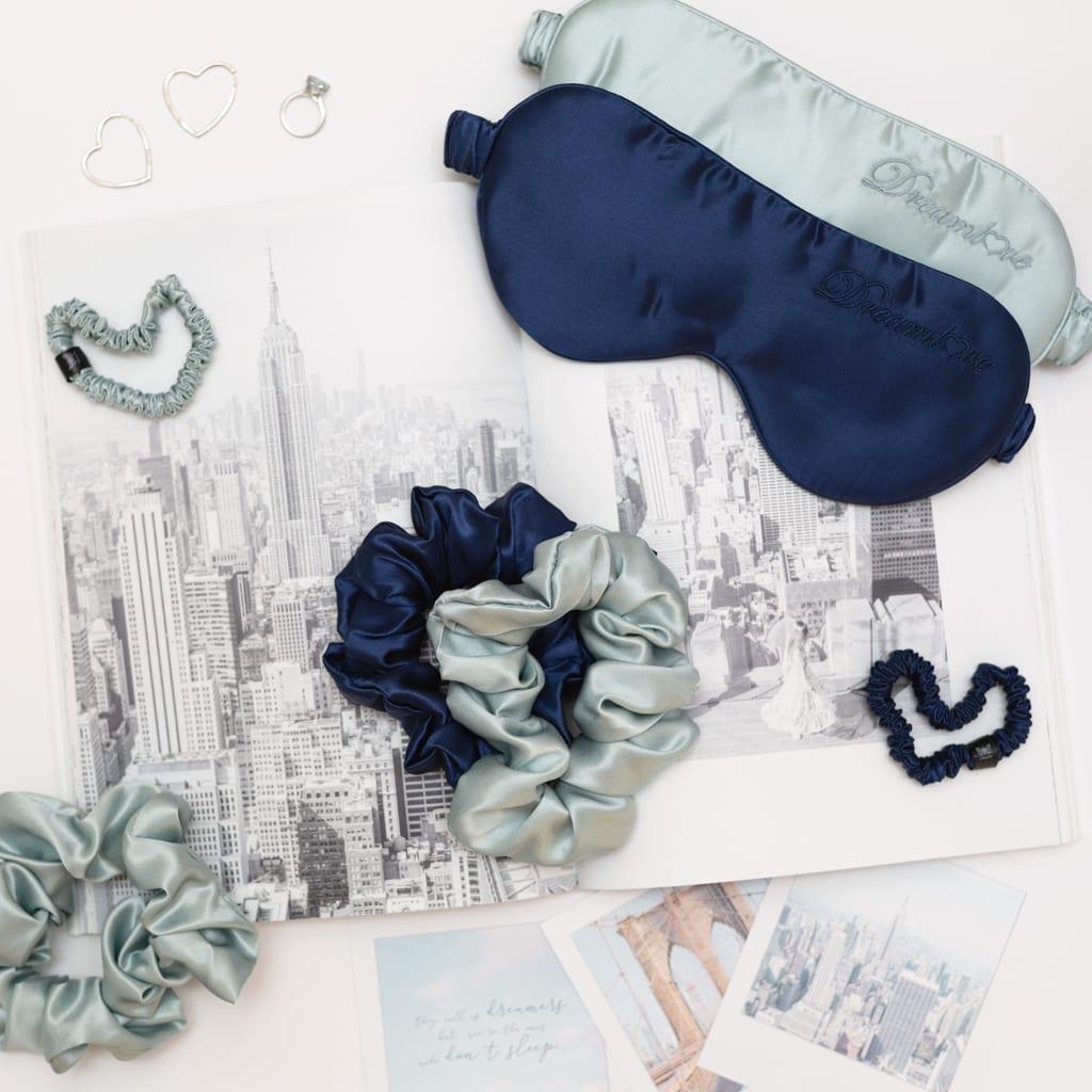 hodvábne gumičky petite mint blue