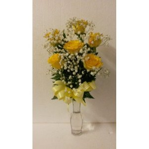 Dream Makers Florist 6 Yellow Roses