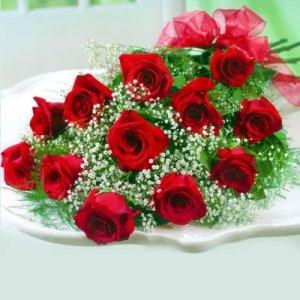 Dream Makers Florist Twelve Roses in a Sleeve