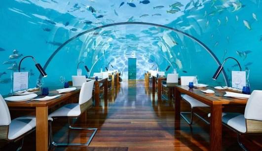 Ithaa Underwater Restaurant at Conrad Maldives.