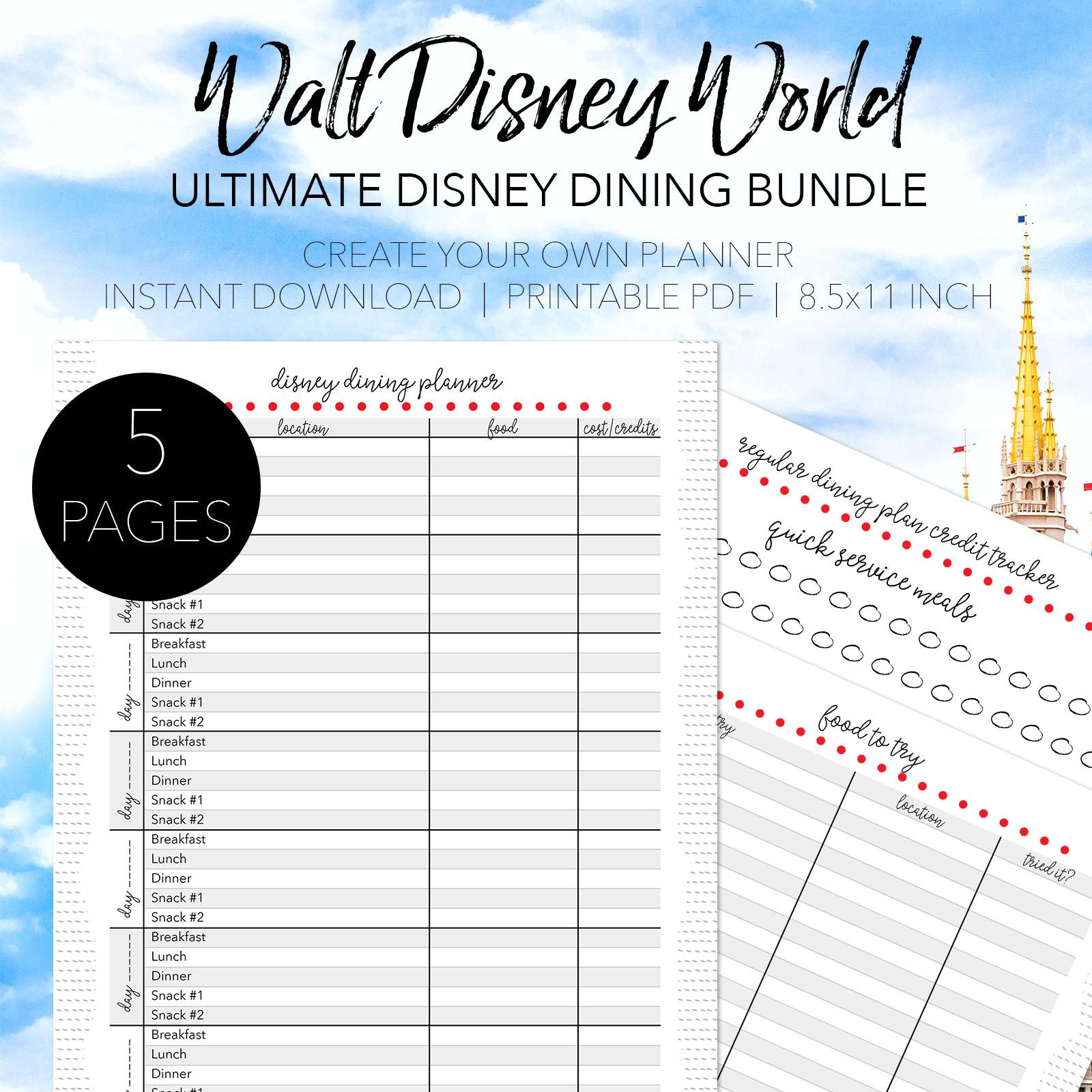 Walt Disney World Dining Planner