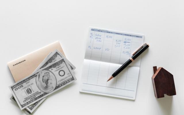 Cash Envelope, Check Book and Pen