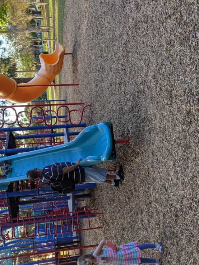 Playground with tall slides in Oldsmar Florida