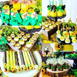 Sunflower 🌻 🌻 themed #bayapartyslayer #sunflowers #sunflower #happybirthday #birthdayfun #girlsrock #girlparty #yellow #gottreatz #cakepops #cakesickles #pretzels #apple #rkt #ricekrispytreats #marshmallows #oreos #customtreats #fallvibes #atlantaplanner #bookyourparty #birthdayparty #eventdecorator #partytime #sunflowers🌻