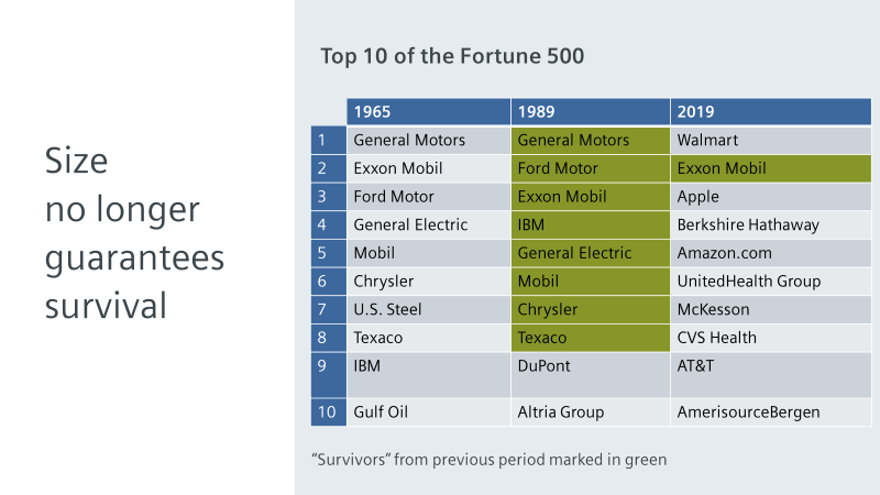 Top 10 of Fortune 500