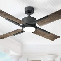 39 blade standard ceiling fan with pull chain and light kit included joss & main 17