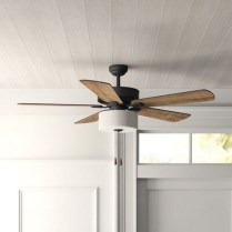 39 blade standard ceiling fan with pull chain and light kit included joss & main 24