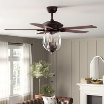 39 blade standard ceiling fan with pull chain and light kit included joss & main 31