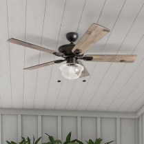 39 blade standard ceiling fan with pull chain and light kit included joss & main 35
