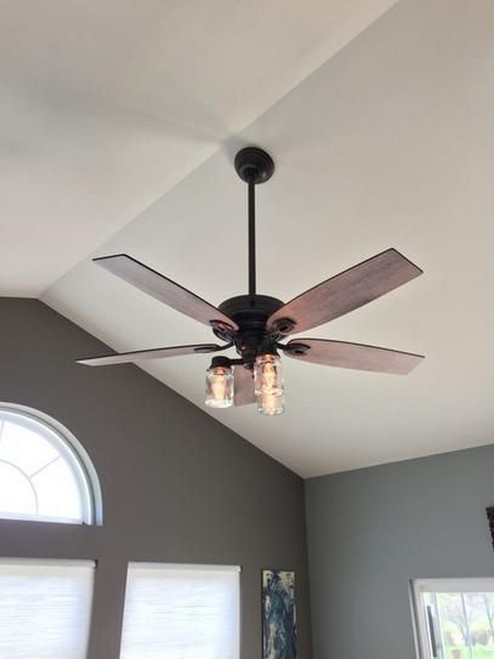 39 blade standard ceiling fan with pull chain and light kit included joss & main 37