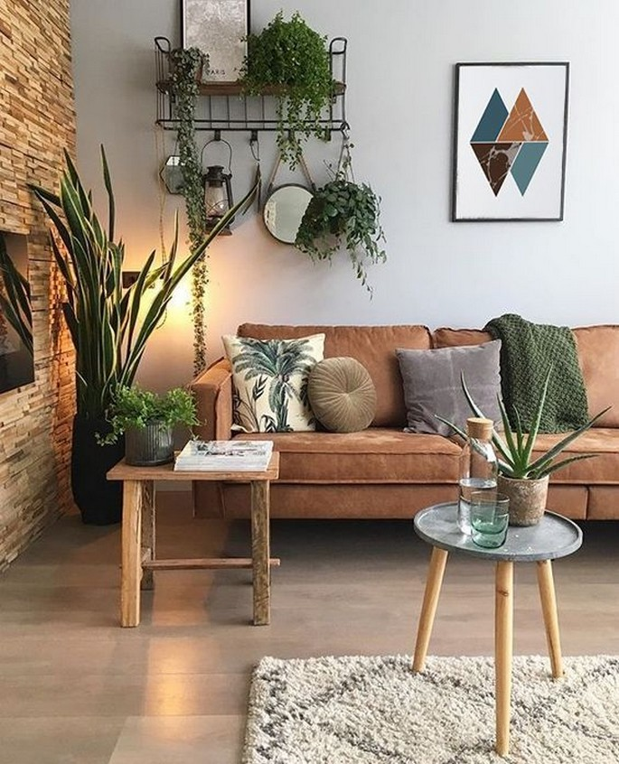45 ideas to decorate your room with plants 24