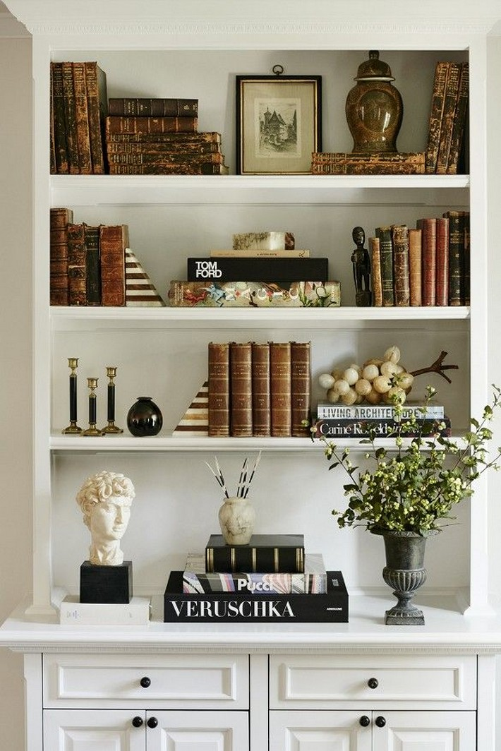 61 Stylish Ways To Display Bookshelves With A Lot Of Books Posh Pennies 10