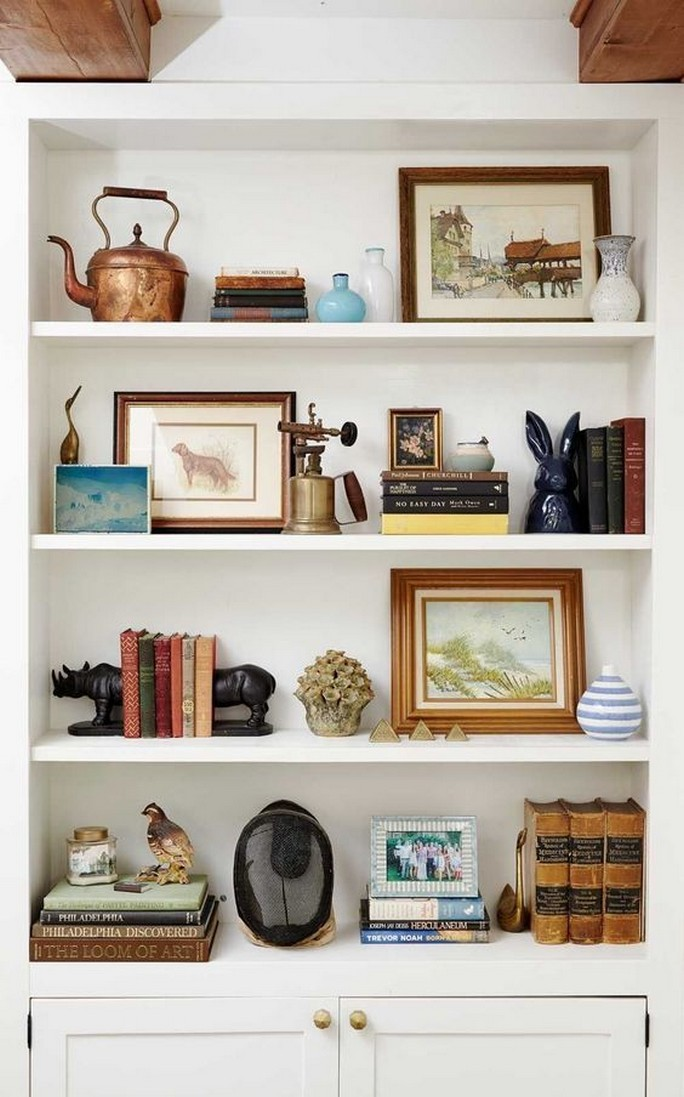 61 Stylish Ways To Display Bookshelves With A Lot Of Books Posh Pennies 11