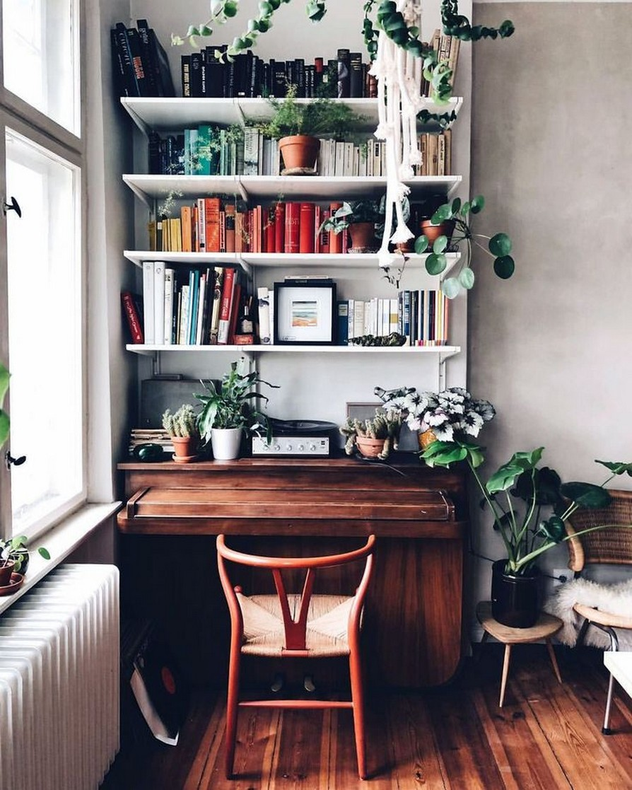 61 Stylish Ways To Display Bookshelves With A Lot Of Books Posh Pennies 14