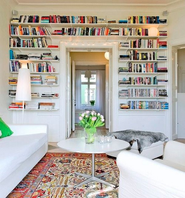 61 Stylish Ways To Display Bookshelves With A Lot Of Books Posh Pennies 18