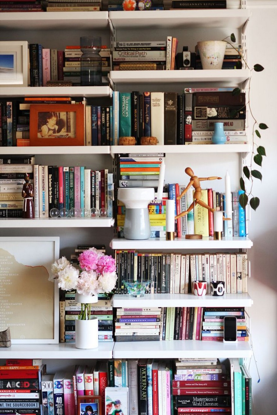 61 Stylish Ways To Display Bookshelves With A Lot Of Books Posh Pennies 20