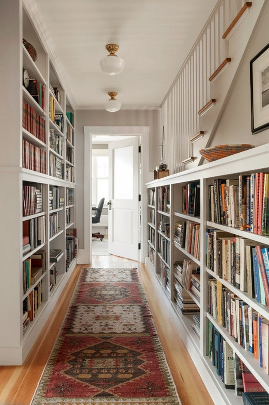 61 Stylish Ways To Display Bookshelves With A Lot Of Books Posh Pennies 27