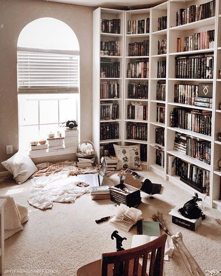 61 Stylish Ways To Display Bookshelves With A Lot Of Books Posh Pennies 37