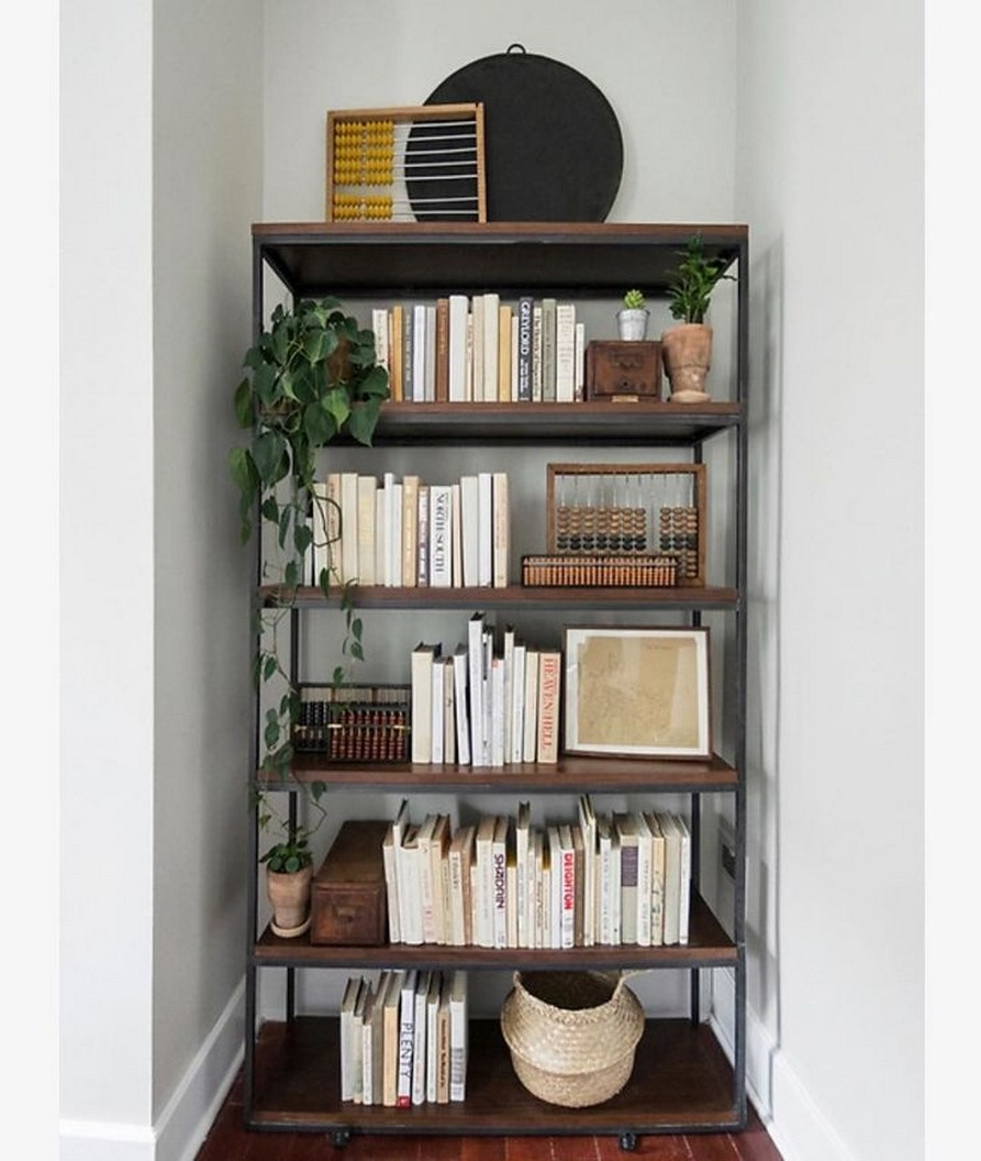 61 Stylish Ways To Display Bookshelves With A Lot Of Books Posh Pennies 51