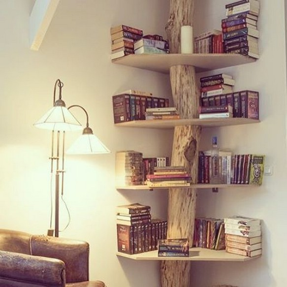 61 Stylish Ways To Display Bookshelves With A Lot Of Books Posh Pennies 7