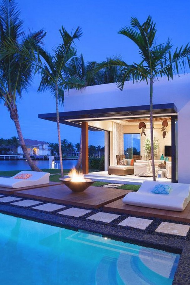40 Fascinating Pool House Ideas 37