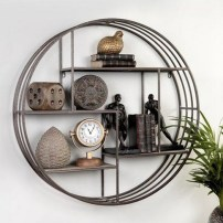 63 malta round wood wall shelf 17