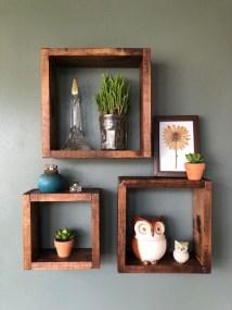 63 malta round wood wall shelf 30