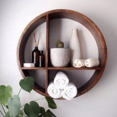 63 malta round wood wall shelf 4