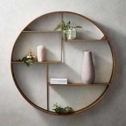 63 malta round wood wall shelf 55