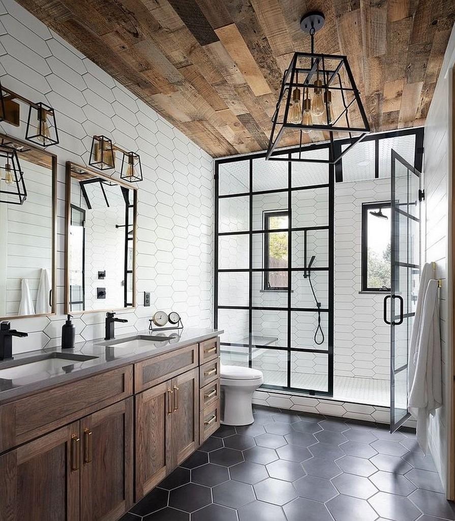 10 Farmhouse Bathroom Remodel Home Decor 16