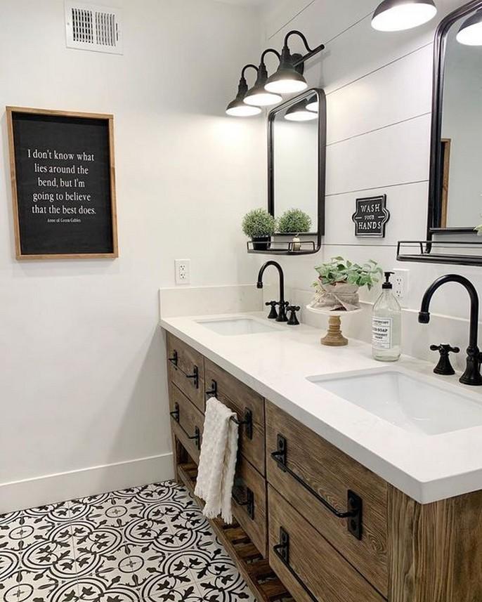 10 Farmhouse Bathroom Remodel Home Decor 19