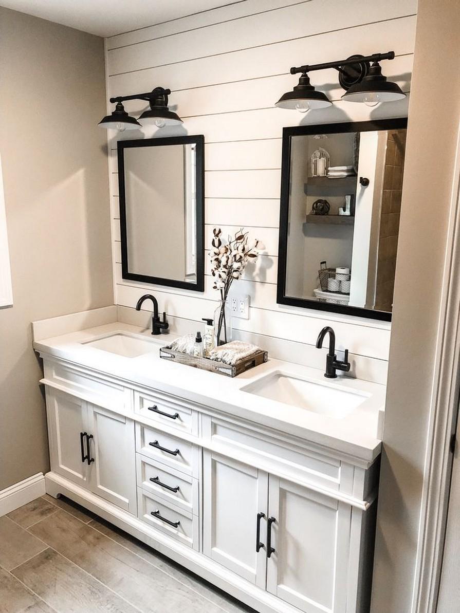 10 Farmhouse Bathroom Remodel Home Decor 4