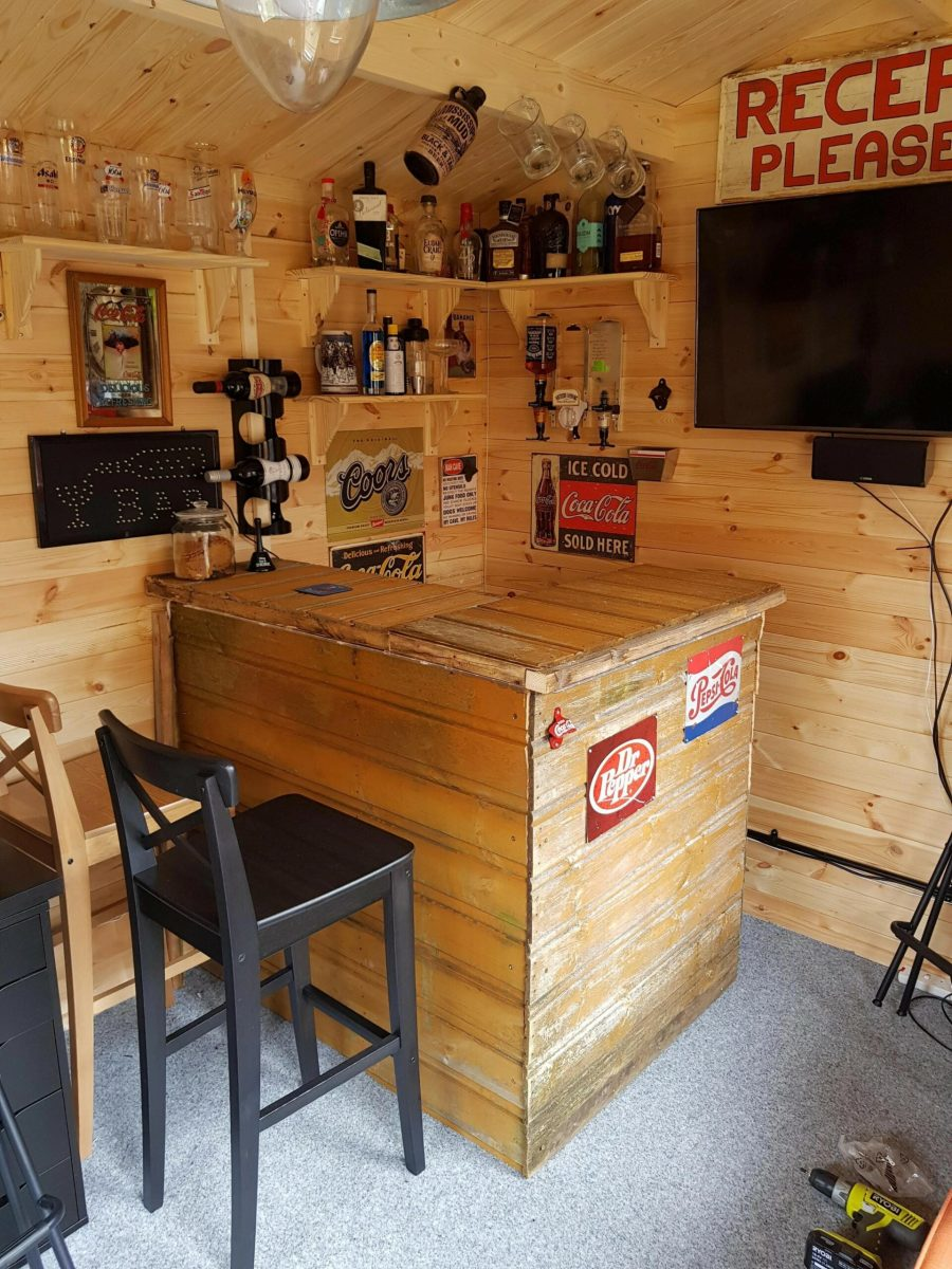 60 Man Cave Bar Ideas To Slake Your Thirst 41