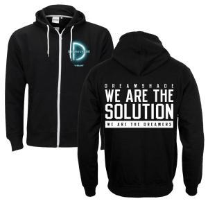 We Are The Solution Black Zip-Up Sweatshirt