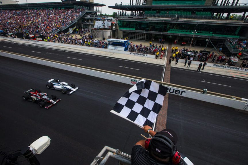 2019 Freedom 100 Finish - won by Oliver Askew (Credit Road to Indy Media)