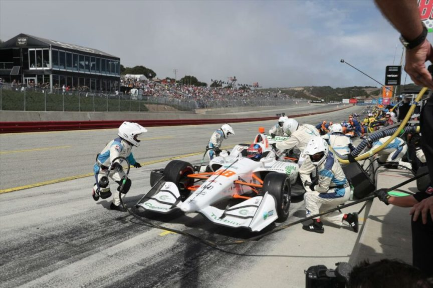 Colton Herta's Team and Pitstops were flawless at WeatherTech Raceway Laguna Seca