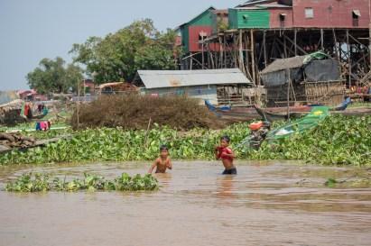Cambodia Water Village Kids