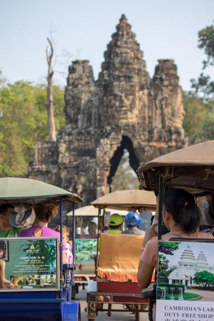Tuktuk Traffic in Angkor