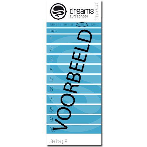 Surfkids Strippenkaart - strippenkaart 10x