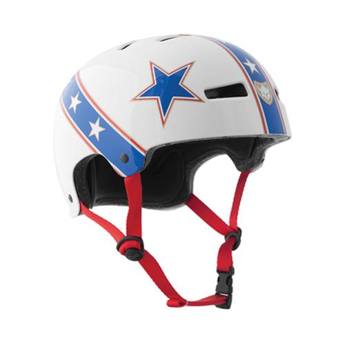 Evel Knievel, white Bleu Red