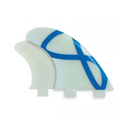 FCS ll Performer Neo Glass Medium Teal Gradient Tri-Quad Fins