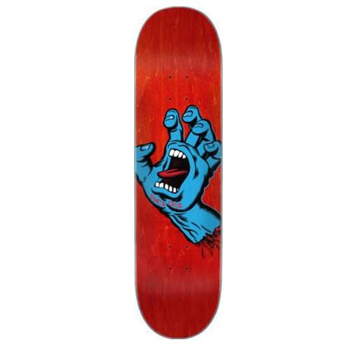 deck santa cruz screaming hand FA20 red 8